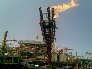 elevated flare stack